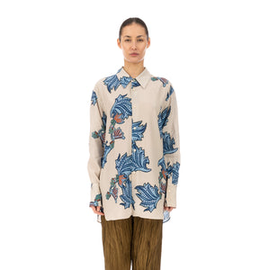 Hope | Mantra Shirt Blue Paisley Print