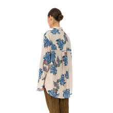 Load image into Gallery viewer, Hope | Mantra Shirt Blue Paisley Print - Concrete