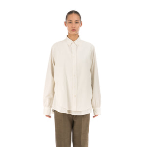 Hope Twice Shirt Off White - Pinstripe - Concrete