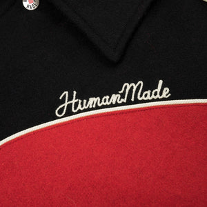 Human Made Varsity Jacket Red - Concrete