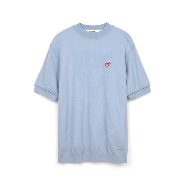 Human Made Short Sleeve Knit Blue - Concrete