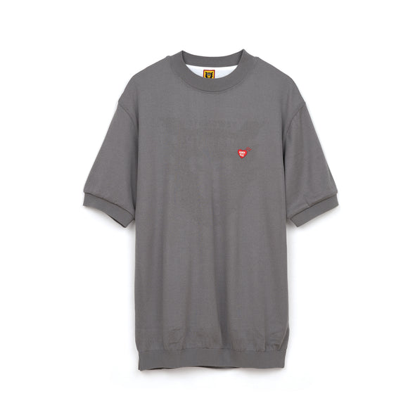 Human Made Short Sleeve Knit Gray - Concrete