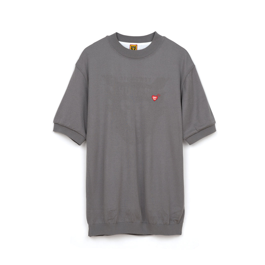 Human Made Short Sleeve Knit Gray
