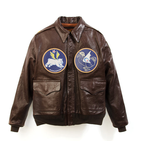 Human Made A-2 Leather Jacket Brown - Concrete