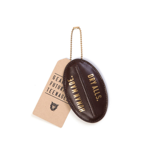 Human Made Leather Key Case Brown - Concrete