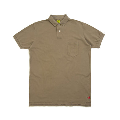 Human Made Big Polo Shirt Beige - Concrete
