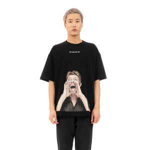 IH NOM UH NIT Bowie Scream T-Shirt Black