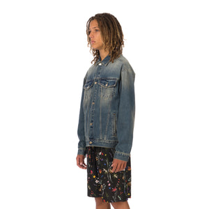 IH NOM UH NIT | Tiger Print Jacket Denim Blue