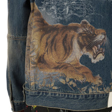 將圖像加載到畫廊查看器中IH NOM UH NIT | Tiger Print Jacket Denim Blue
