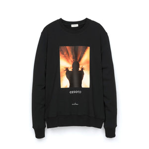 IH NOM UH NIT Closed Print Crewneck Black - Concrete