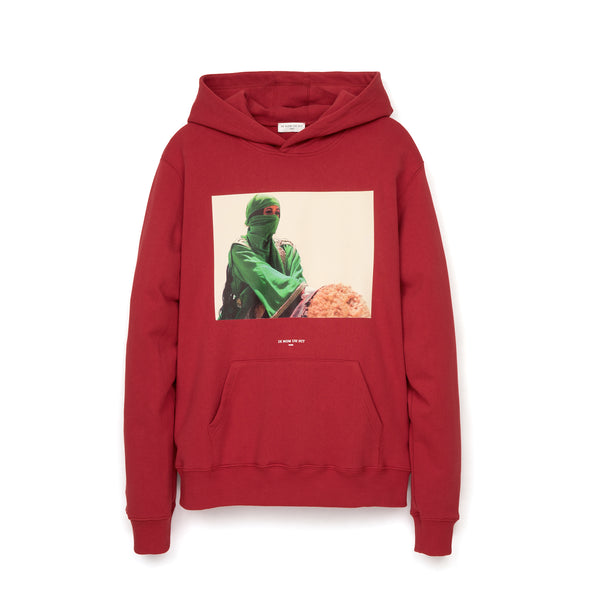 IH NOM UH NIT Green Woman Hoodie Red - Concrete