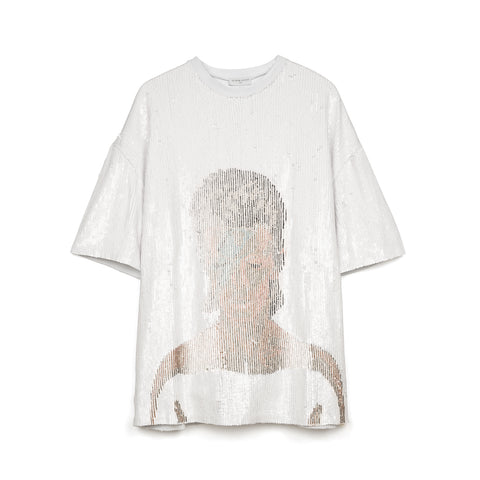 IH NOM UH NIT Bowie Flash Sequins T-Shirt White / Multi