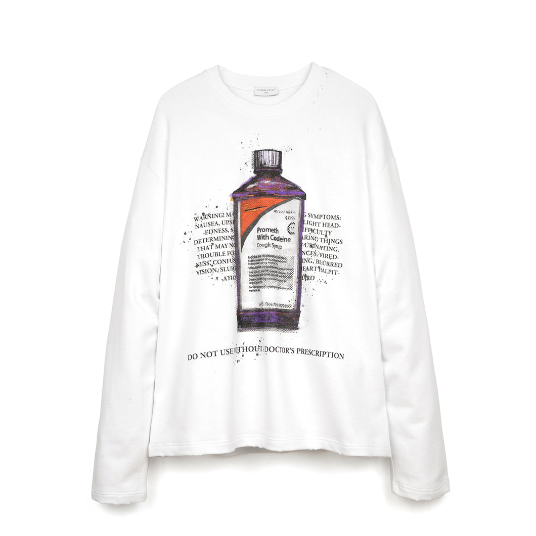 IH NOM UH NIT Codeine Sweatshirt Optic White