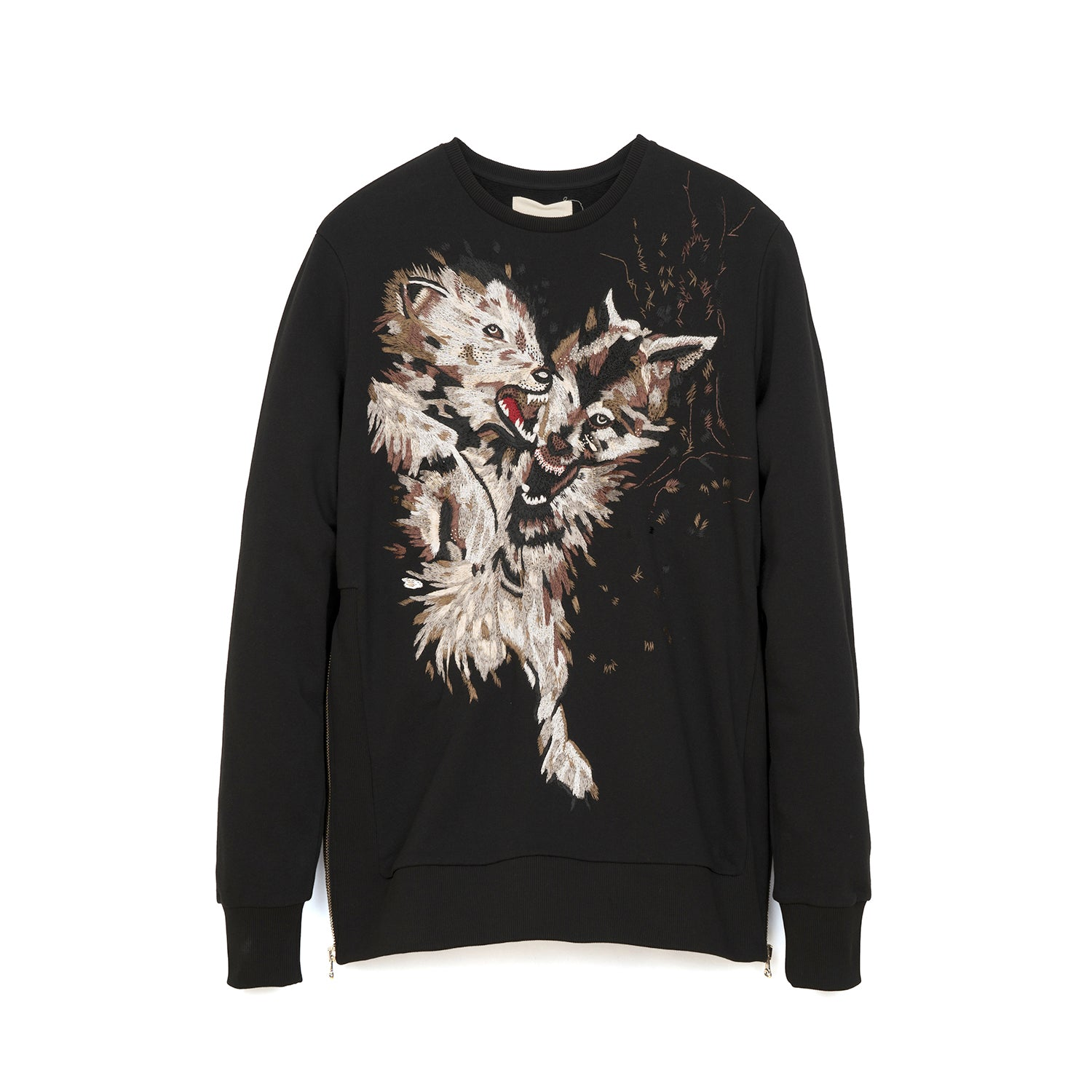 IH NOM UH NIT Embroidered Sweater - Pearls On The Back Black