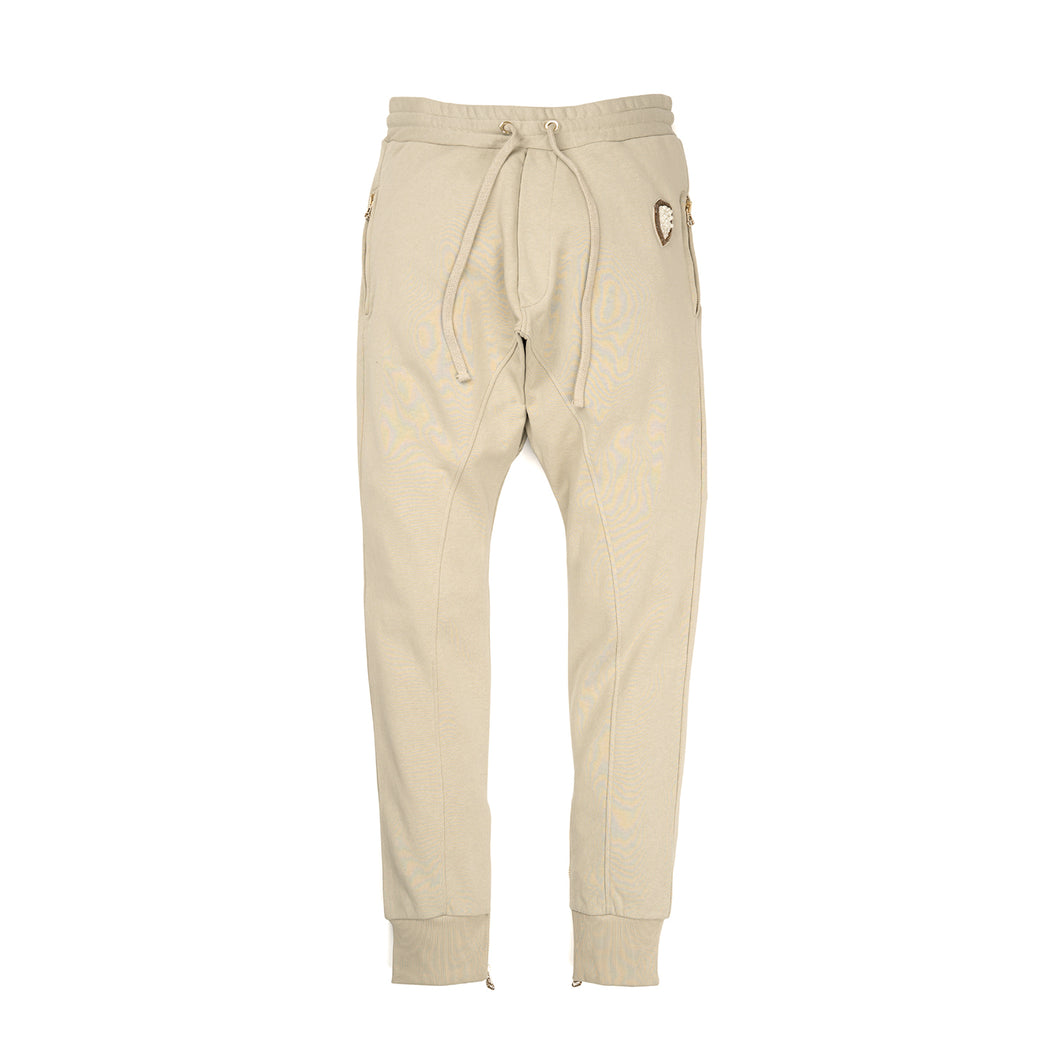 IH NOM UH NIT Embroidered Sweatpants - Crest App On Front Taupe