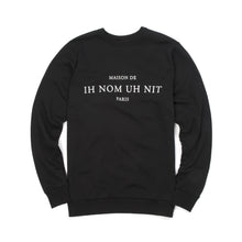 Afbeelding in Gallery-weergave laden, IH NOM UH NIT 'Text' Sweatshirt Black