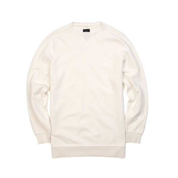 maharishi Boro Crew Sweat White
