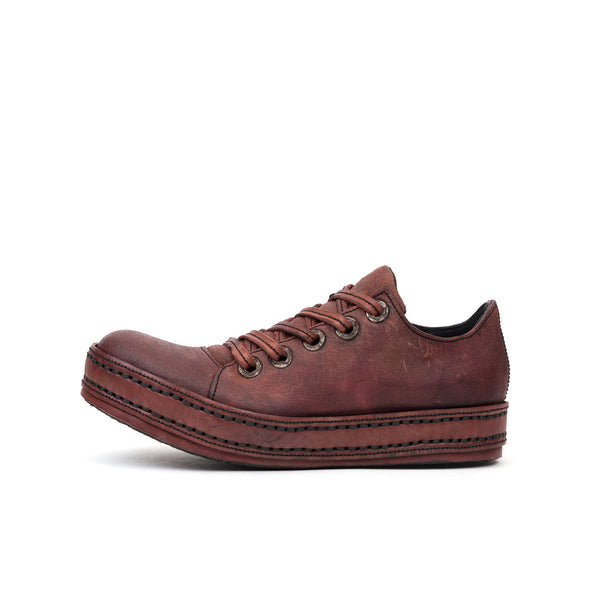 James Kearns 5Hole Waxed Deep Red - Concrete