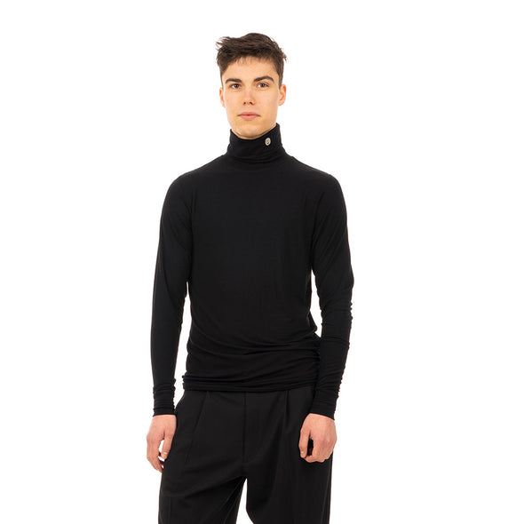 AMBUSH | Jersey Turtleneck Black - Concrete