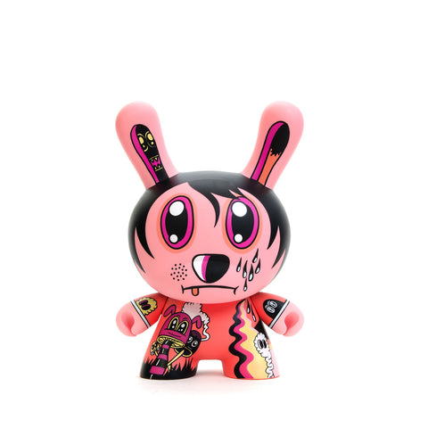 "Kidrobot 8"" Dunny Nightmare in Jeremyville Pink - Concrete"