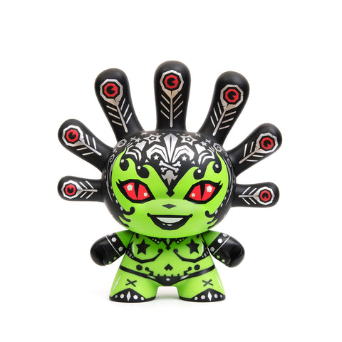 "Kidrobot 8"" Dunny Madam Mayhem Green/Black - Concrete"
