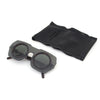KUBORAUM Sunglasses & Case E3 43-29 TM Gray/Green
