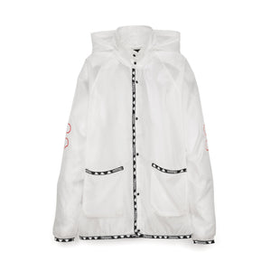 Kappa x A.Four Labs x Shauna T (P.A.M.) Hooded Coach Jacket Clear - Concrete