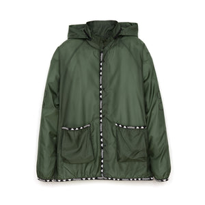 Kappa x A.Four Labs x Shauna T (P.A.M.) Hooded Coach Jacket Olive Drab - Concrete