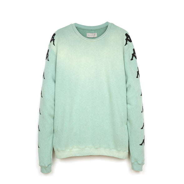 Kappa x Danilo Paura 'Uzai' Crewneck Light Green - Concrete