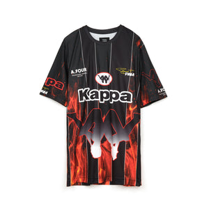 Kappa x A.Four Labs x Shauna T (P.A.M.) Sublimination Football Shirt Flame