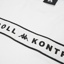 Afbeelding in Gallery-weergave laden, Kappa Kontroll Banda Chest T-Shirt Grey Silver - White