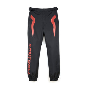 Kappa Kontroll Flames Pant Black / Red Cherry - Concrete