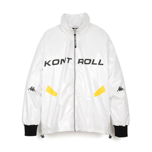 Kappa Kontroll Light Windbreaker Jacket White - Concrete