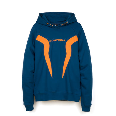 Kappa Kontroll Flames Hoodie Blue Opal / Orange - Concrete