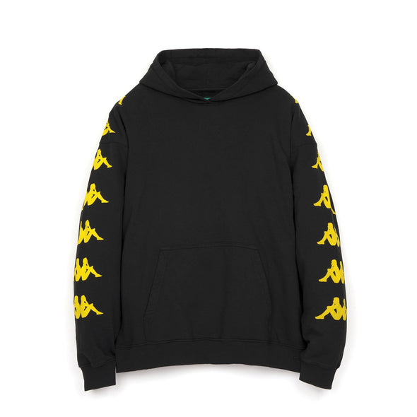 Kappa x Danilo Paura 'Okan' Oversized Hoodie Sweater Black/Yellow - Concrete