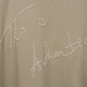 IH NOM UH NIT Embroidered Sweater - Pearls On The Back Taupe - Concrete