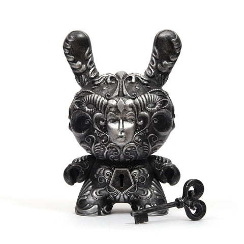 "Kidrobot 8"" It's a F.A.D. Dunny Silver By J*RYU - Concrete"