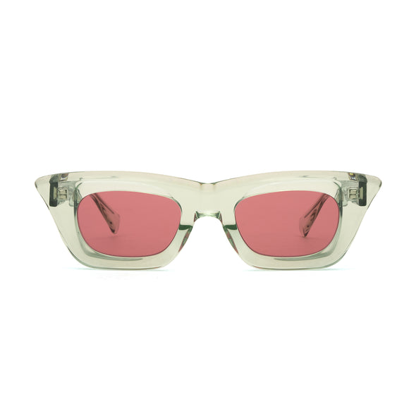 KUBORAUM | Sunglass & Case C20 51-25 MT P.red - Concrete