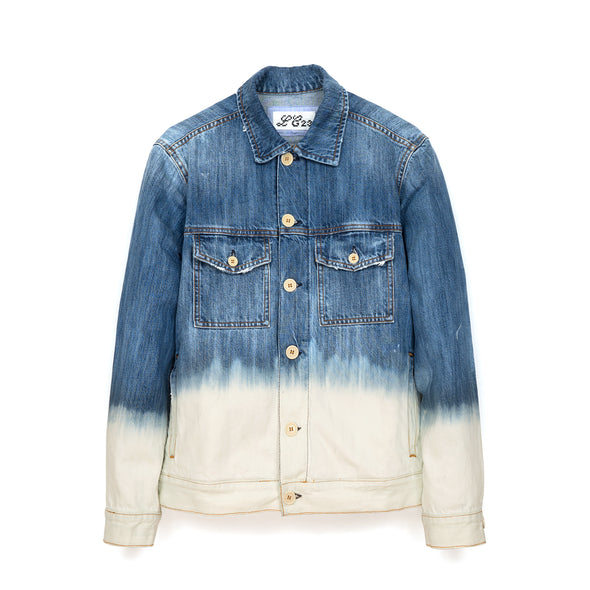 LC23 | 2 Colori Denim Jacket Blue/White - Concrete