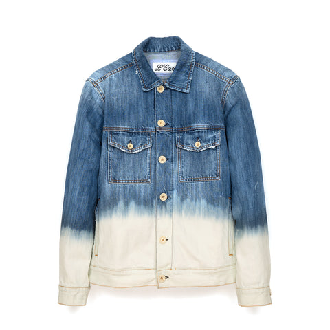 LC23 2 Colori Denim Jacket Blue/White
