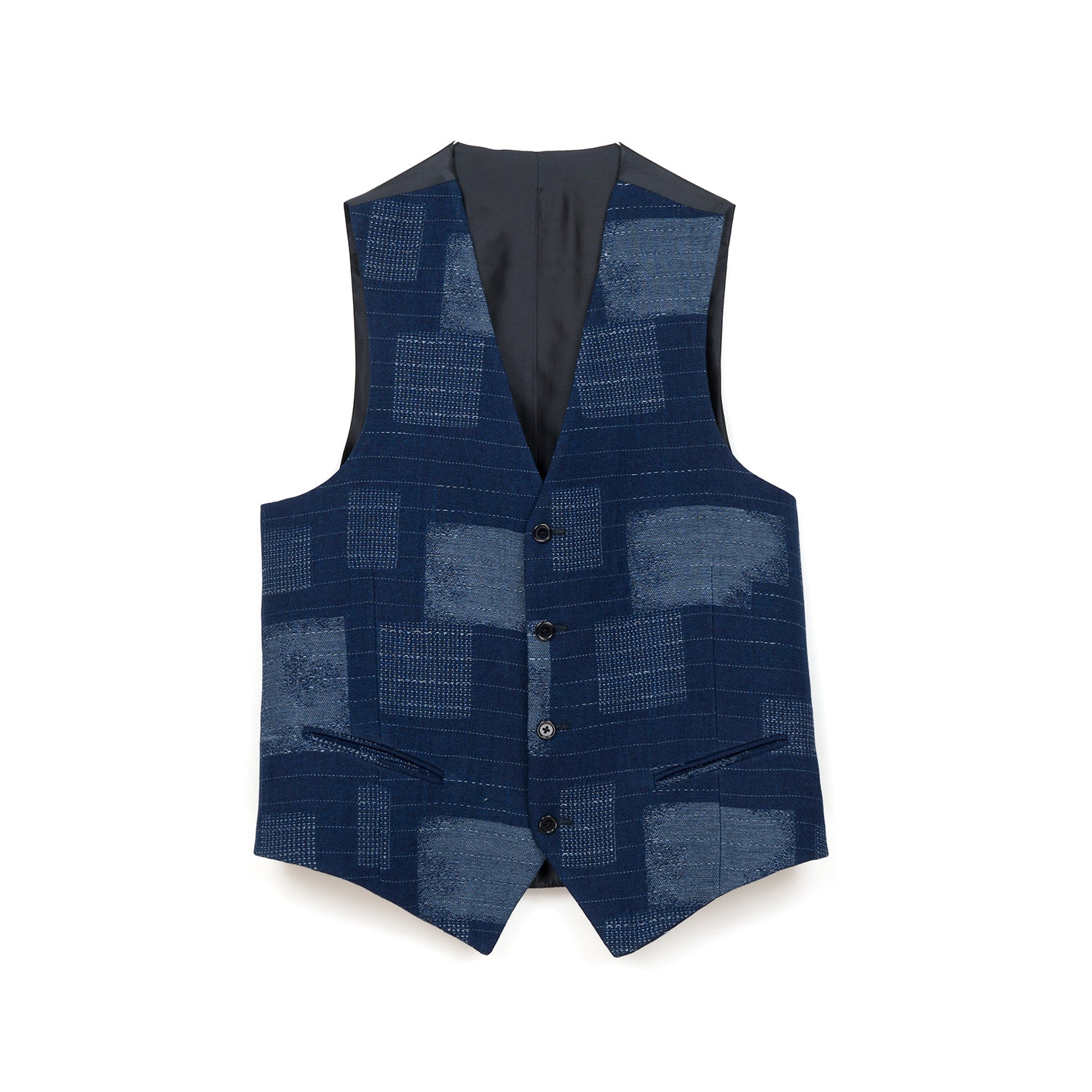 LC23 Patchwork Gilet Blue