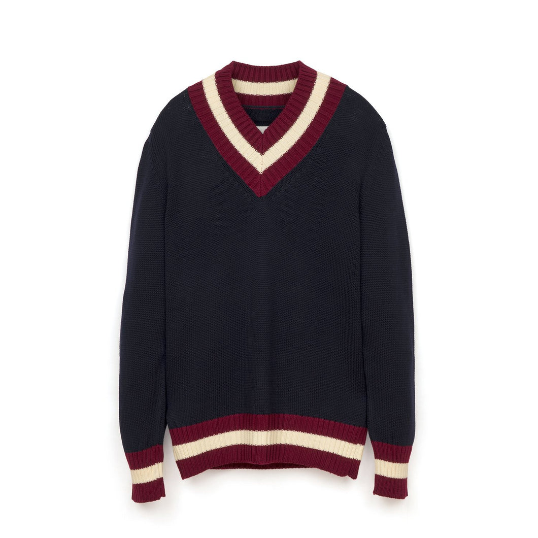 LC23 | College V Sweater Navy - Concrete