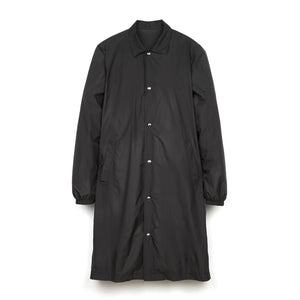 LC23 Nylon Print Coat Jacket Black