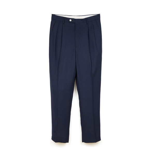 LC23 | No Crumpling Trousers Navy - Concrete