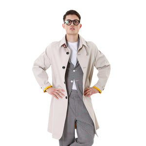 LC23 | Trench Coat Jacket Beige - Concrete