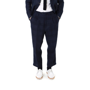 LC23 | Lino Galles Trouser Navy - Concrete
