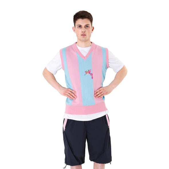LC23 | Pantera Stripes Gilet Pink / Blue - Concrete
