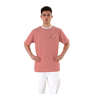 LC23 | Pantera Stripes T-Shirt Cream / Red - Concrete