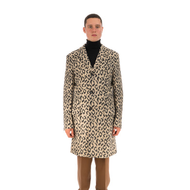LC23 Leopardo Jersey Coat Multi
