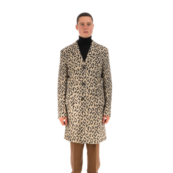 LC23 | Leopardo Jersey Coat Multi - Concrete
